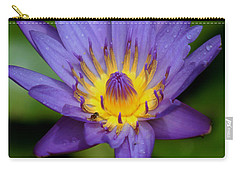 Purple Water Lily Carry-all Pouch by Pamela Walton