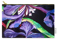 Purple Wildflowers Carry-all Pouch by Lil Taylor