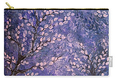 Carry-all Pouch featuring the painting Pussy Willow Blues by Megan Walsh