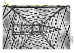 Carry-all Pouch featuring the photograph Pylon by Howard Salmon