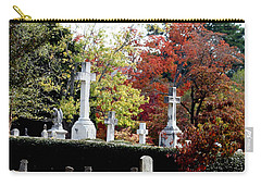 Carry-all Pouch featuring the photograph Quad Crosses In Fall by Lesa Fine