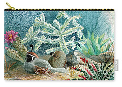 Quail At Rest Carry-all Pouch