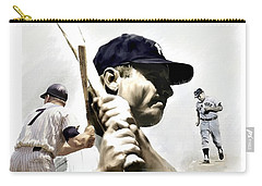 Quality Of Greatness Mickey Mantle Carry-all Pouch by Iconic Images Art Gallery David Pucciarelli