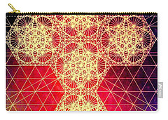 Quantum Cross Hand Drawn Carry-all Pouch by Jason Padgett