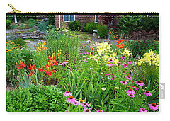 Carry-all Pouch featuring the photograph Quarter Circle Garden by Kathryn Meyer