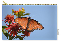Carry-all Pouch featuring the photograph Queen Butterfly by Debra Martz