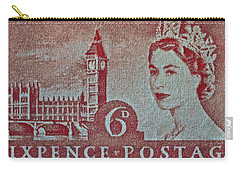 Queen Elizabeth II Big Ben Stamp Carry-all Pouch