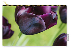 Queen Of The Night Black Tulips Carry-all Pouch