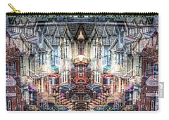 Carry-all Pouch featuring the photograph Queens Palindrome Houses by Dave Beckerman