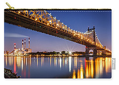 Carry-all Pouch featuring the photograph Queensboro Bridge by Mihai Andritoiu