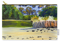 Carry-all Pouch featuring the painting Quiet Sand By The Creek by Pamela  Meredith