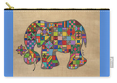 Quilted Elephant Carry-all Pouch