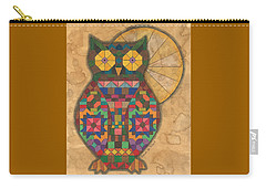 Quilted Owl Carry-all Pouch