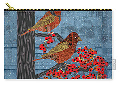 Carry-all Pouch featuring the digital art Sagebrush Sparrow Short by Kim Prowse