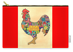 Quilted Rooster Carry-all Pouch