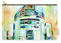 R2-d2 Watercolor Portrait Carry-all Pouch