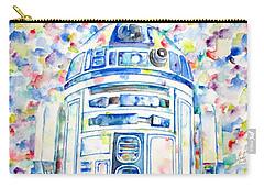 R2-d2 Watercolor Portrait.1 Carry-all Pouch