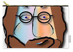 Carry-all Pouch featuring the digital art Rabbi David by Marvin Blaine