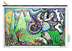 Rabbid Rabbit Carry-all Pouch by Melinda Dare Benfield