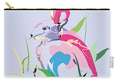 Rabbit - Bunny In Color Carry-all Pouch