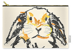 Rabbit Jon Carry-all Pouch by Go Van Kampen