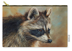 Raccoon Carry-all Pouch by David Stribbling