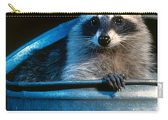 Raccoon In Garbage Can Carry-all Pouch