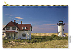 Race Point Lighthouse In Summer Carry-all Pouch by Amazing Jules