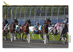 Carry-all Pouch featuring the photograph Race To The Finish by Davandra Cribbie