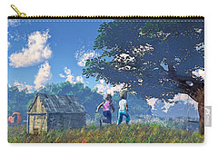 Race To The Swing Carry-all Pouch by Ken Morris