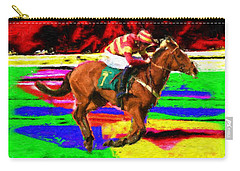Racehorse Carry-all Pouch by Ron Harpham