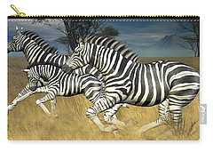Carry-all Pouch featuring the digital art Racing Stripes by Jayne Wilson