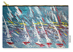 Racing To The Limits - Sold Carry-all Pouch by George Riney