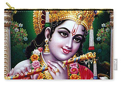 Radha Krishna Idol Hinduism Religion Religious Spiritual Yoga Meditation Deco Navinjoshi  Rights Man Carry-all Pouch by Navin Joshi