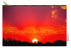 Carry-all Pouch featuring the photograph Radiant Sunset by Dee Dee  Whittle