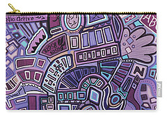 Carry-all Pouch featuring the painting Radio Active by Barbara St Jean