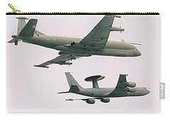 Carry-all Pouch featuring the photograph Raf Nimrod And Awac Aircraft by Paul Fearn