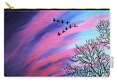 Raging Sky And Canada Geese Carry-all Pouch