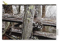 Rail Fence With Ice Carry-all Pouch by Daniel Reed