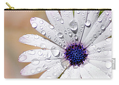 Rain Soaked Daisy Carry-all Pouch by Kaye Menner
