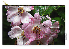 Rain Soaked Rose Carry-all Pouch