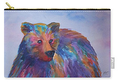 Rainbow Bear Carry-all Pouch by Ellen Levinson