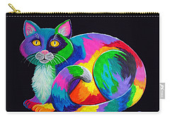 Rainbow Calico Carry-all Pouch