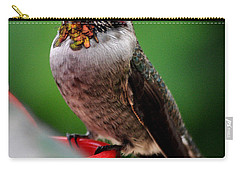Carry-all Pouch featuring the photograph Rainbow Colored Male Anna by Jay Milo