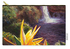 Rainbow Falls Big Island Hawaii Waterfall  Carry-all Pouch