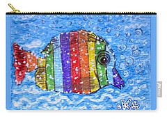 Rainbow Fish Carry-all Pouch by Kathy Marrs Chandler