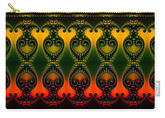 Carry-all Pouch featuring the digital art Rainbow Fractal Pattern by Clayton Bruster
