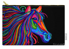 Rainbow Horse Head Carry-all Pouch