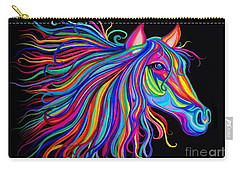 Rainbow Horse Too Carry-all Pouch