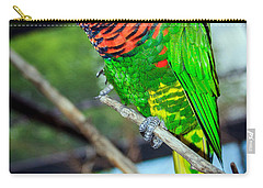 Carry-all Pouch featuring the photograph Rainbow Lory by Sennie Pierson